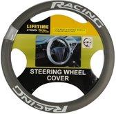Lifetime Cars Stuurhoes Racing Universeel Pvc Grijs 37-39 Cm