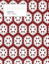 Christmas White Flakes Composition College Ruled Book (7.44 X 9.69) 200 Pages V6