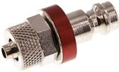 Messing DN 5 Luchtkoppeling Insteeknippel 4x6 mm Push-On - CLP5-N-BN-RED-4