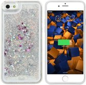 Colorfone PREMIUM CoolSkin Liquid / Glitter / Siliconen / Gel / TPU / Softcase / Hoesje / Cover / Case voor de Apple iPhone 5/5S Zilver