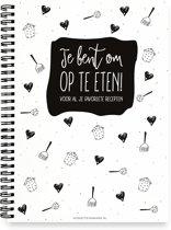 Receptenboek | Invulboek | Zwart wit | winkeltjevananne.nl