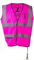 Roze veiligheidsvestje party girls voor dames - Vrijgezellenfeest/vrijgezellenparty - Drankfeest