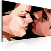 Schilderij - Symmetrische Liefde