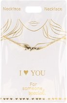 Ketting I love You, gold plated