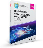 Bitdefender 2018 Total Security Multi Device  (10 Apparaten / 2 Jaar)