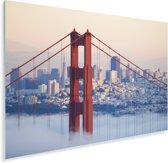 Mistig rond de Golden Gate Bridge en San Francisco Plexiglas 90x60 cm - Foto print op Glas (Plexiglas wanddecoratie)