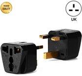 TravelBuddy Reisstekker – EU naar UK - Type G - Engeland - Verenigd Koninkrijk - Afrika - Dubai - Universele reis stekker - Plug - Reis Verloopstekker - Wereldstekker - Oplader - Adapter - Zwart