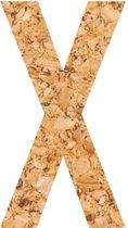 Kleefletter - plakletter - prikbord - kurk - vegan - letter X - 58 cm hoog