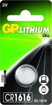 GP Lithium knoopcel CR1616 blister 1