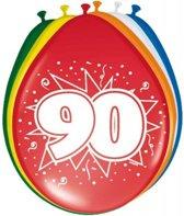 90 Jaar Ballonnen 30cm 8 stuks