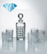 Diamand whisky set  van Kristal - 7 delig