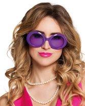 Paarse disco bril voor volwassenen - Verkleedattribuut