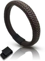 Armband microvezels bruin Galeara design RIX met magneet sluiting 21,5cm - 22,5cm. waterproof