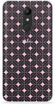 Wiko UPulse Hoesje Geometrisch Pink