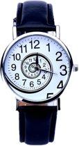 Fako® - Horloge - Swirl - Zwart
