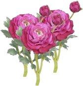 3x Kunstbloemen Ranonkel roze van 35 cm