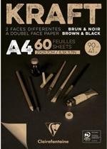 Clairefontaine Kraft Papier A4 21 x 29,7 cm 90 g/m2 60 Sheets