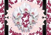 Fotobehang Flowers Floral Pattern   XXL - 206cm x 275cm   130g/m2 Vlies