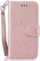 Luxe PU leren Bookcase voor Samsung Galaxy S9 Plus   Vlinders   Butterfly   Bloemen   Leren Portemonnee Hoesje   Lederen Wallet Case TPU   Book Case   Flip Cover   Klap - 360 beschermend Telefoonhoesje   Roze