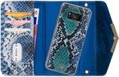 Mobilize Velvet Clutch Samsung Galaxy S8 Hoesje Royal Blue Snake