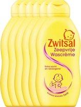Zwitsal Zeepvrije Wascreme Baby - 6 x 200 ml - Voordeelverpakking