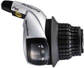 Shimano Shifter Revo Sl-rs45 6sp Rechts Zwart / Zilver