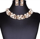 Charme Bijoux®Schitterende sieraden set- 3 kleuren parels- strass steentjes-