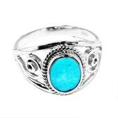 Ring Arizona Turquoise - 925 zilver - maat 17.00 mm - maat 17.00 mm