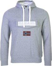 Napapijri Burgee 2 Hooded Sweater Heren Sporttrui - Maat XXL - Mannen - grijs/wit