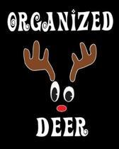 Organized Deer: Deer Elk Antler Hunting Hobby 2020 Monthly Planner Dated Journal 8'' x 10'' 110 pages