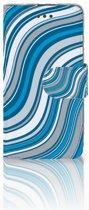 LG L70 Boekhoesje Design Waves Blue