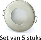 3W GU10 badkamer inbouwspot Zilver mat rond | Warm wit | Set van 5 stuks