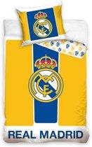 Real Madrid - Dekbedovertrek - Eenpersoons - 140x200 + 1 kussensloop 70x80 cm - Multi kleur