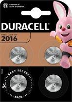 Duracell CR2016 Knoopcelbatterijen (4 stuks)