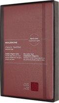 Moleskine Limited Collection Notitieboek-Leer-Large-gelineerd-Hard-Cover-Open-Box-Bordeaux-Rood-(13x21cm)