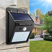 Solar LED wandlamp 2 stuks - 30 LED - dag/nacht sensor - bewegingssensor - zonne-energie - tuinverlichting - boveld
