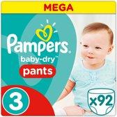 Pampers Baby-Dry Pants - Maat 3 (Midi) - 92 stuks - Luierbroekjes