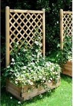 Houten plantenbak met klimrek - 66 liter - set van 4 stuks