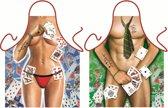 Strip Poker Man en vrouw - Sexy Grappig Leuk Schort Keukenschort