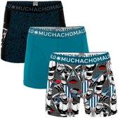 Muchachomalo Prostethics Heren boxershort - 3 pack - print/Donkerblauw - Maat S