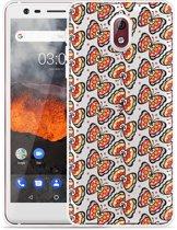 Nokia 3.1 Hoesje Butterflies