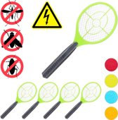 relaxdays 5x elektrische vliegenmepper - groen - tegen muggen - vliegen mepper elektrisch