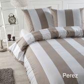 Papillon Perez dekbedovertrek - eenpersoons - 140x200/220 - Zand