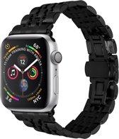 Merkloos RVS bandje - Apple Watch Series 1/2/3/4 (38&40mm) - Zwart