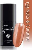 139 UV Hybrid Semilac Nuts & Caramel 7 ml.