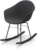TOOU TA UP schommelstoel - Armstoel donkergrijs - ER zwart onderstel