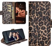 Bouletta Lederen Apple iPhone XR Hoesje - BookCase - Leopard