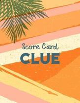 Clue Score Card