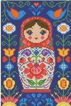 Diamond painting Matreshka with Flowers AZ-1324