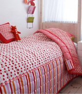 Cozz Stripes & Tulips Sprei - Rood - 260x260